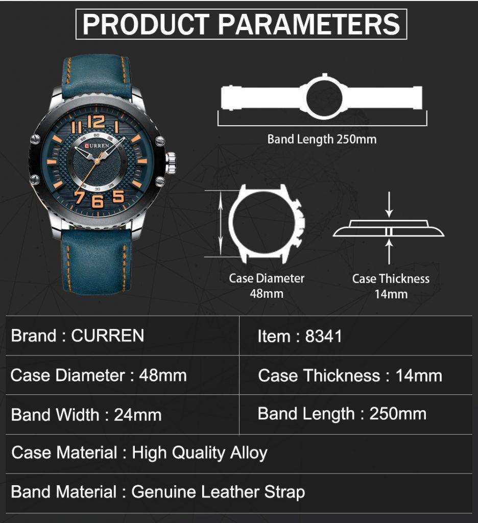 Reloj curren 8341  Estilo clásico, diseño elegante